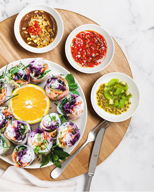 Angerichtete Food Bowls der Porzellanform Coup Fine Dining