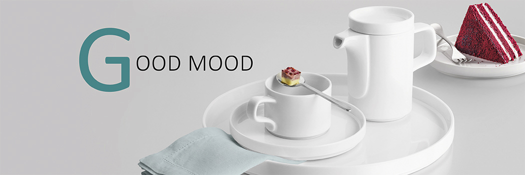 Gastronomy Crockery series Good Mood made of porcelain