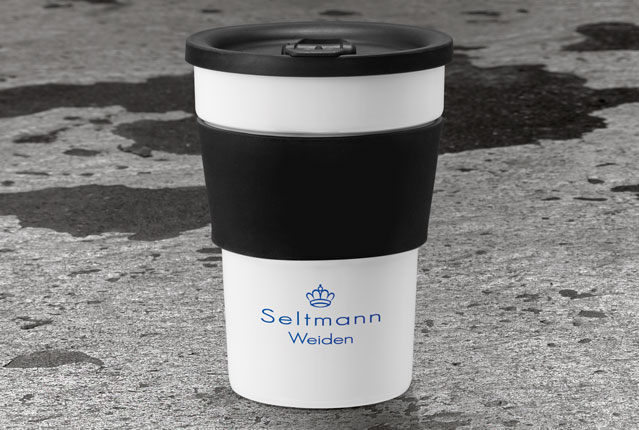 Porcelain mug to go for people on the move from Seltmann Weiden