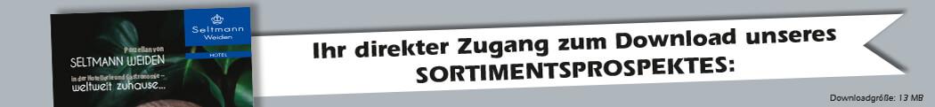 Ihr direkter Zugang zum Download unseres Sortimentprospektes, Porzellan von Seltmann Weiden