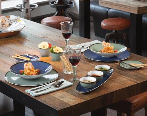 Porzellan Geschirr Seltmann Coup Fine Dining Fantastic Tafelaufnahme