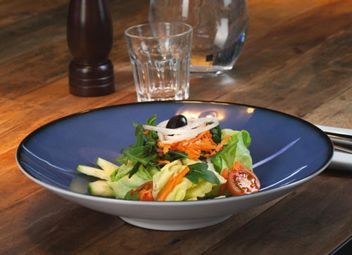 Porzellan Geschirr Seltmann Coup Fine Dining Fantastic Teller mit Salat