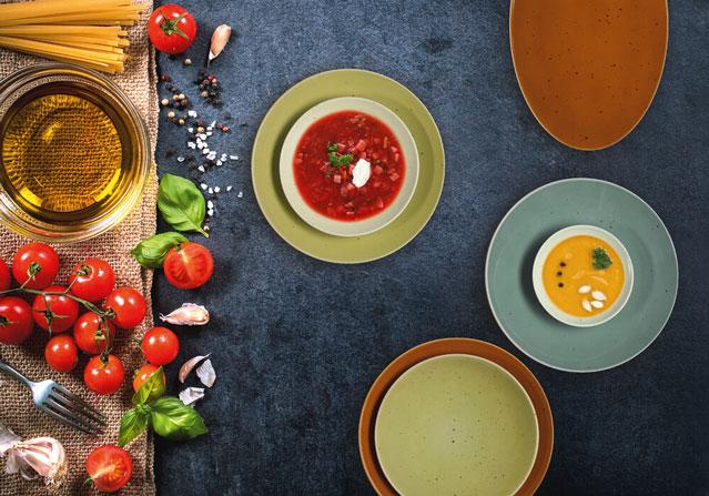 Draufsicht Porzellanteller Coup Fine Dining Country Life - Gastronomie Teller