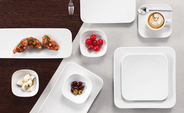 Coup Fine Dining eckig - Hotelporzellan - Hotelgeschirr - Gastronomie Teller