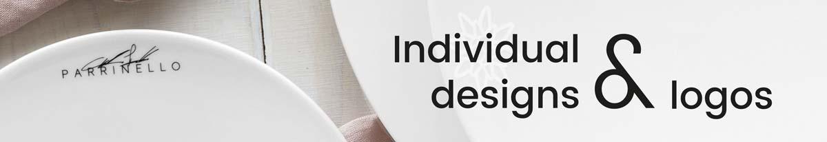 Individual designs and logos