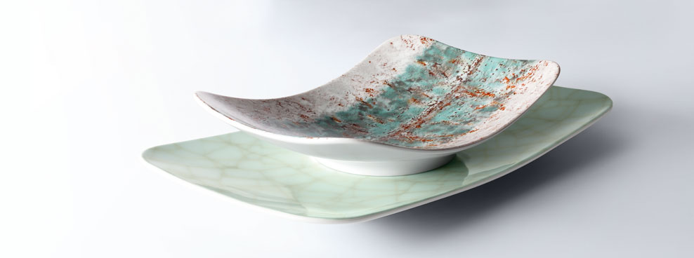 Coup Fine Dining »Reflections« and »Growth« - Modern porcelain tableware