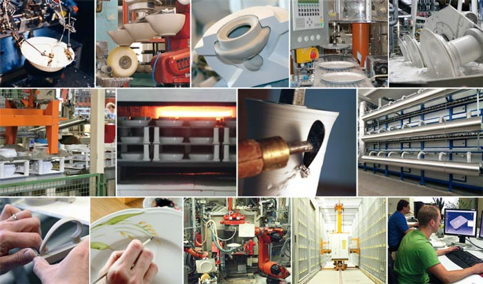 Produktionsbilder der Porzellanfabrik Seltmann Weiden